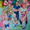 Janina C. Brügel: Happy Birthday II, Acrylic on canvas, 155 x 145, 2019