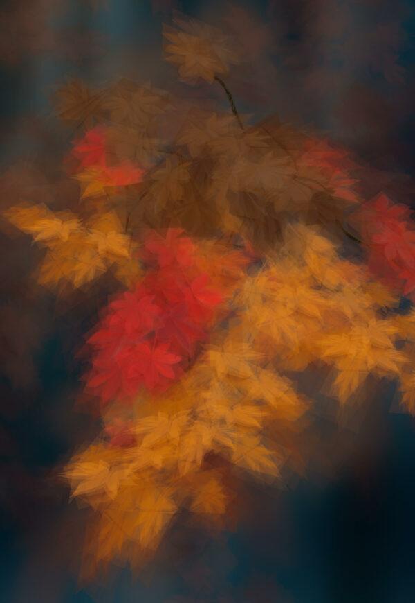 Margarete Schrüfer: Herbst in Simulacrum III, 90 x 130 cm