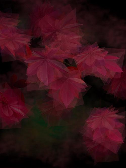 Margarete Schrüfer: Herbst in Simulacrum, 2020, Giclee-Druck, 40 x 31 cm, gerahmt