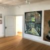 Marina Friedrich: Gewächshaus, Acryl auf Leinwand, H. 180 cm, W. 150 cm, 2020