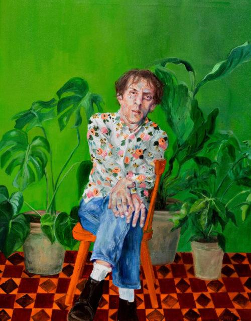 Janina C. Brügel: Professor Daumer, 2017, Acryl auf Leinwand, 115 x 90 cm