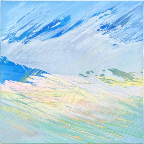 Julia Frischmann: o.T., 2019, 70 x 70 cm, Vinyl on canvas