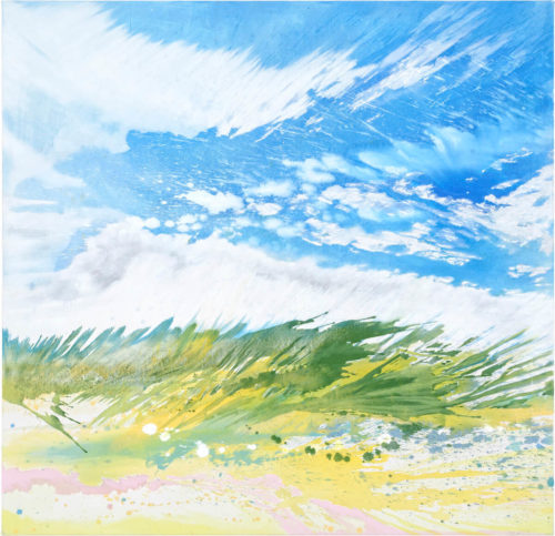 Julia Frischmann: Summer breeze, 2019, 150 x 150 cm, Vinyl on canvas