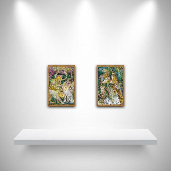 Marina Friedrich: Cats 1 and Cats 2, Giclée Print, 20 x 30 cm, 2021