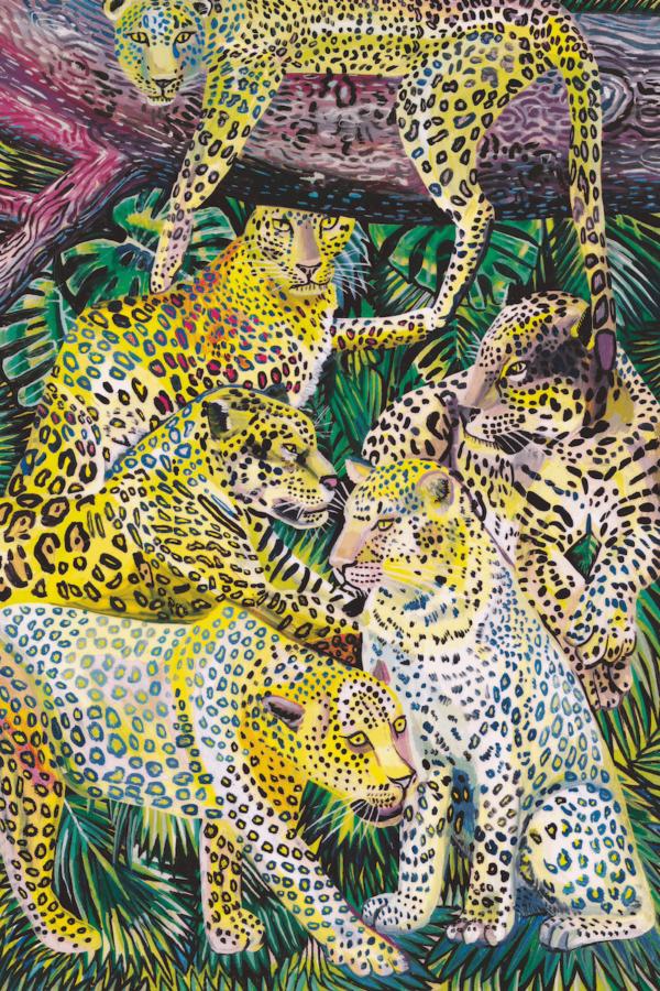 Illustration einer Gruppe Tiger