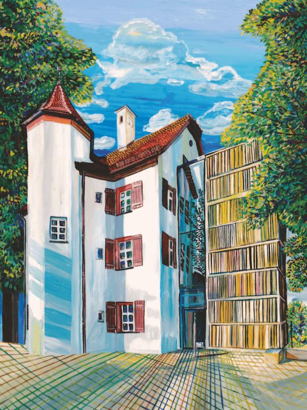 Marina Friedrich: Weißes Schloss Heroldsberg, 40 x 30 cm, Giclée print, 2021