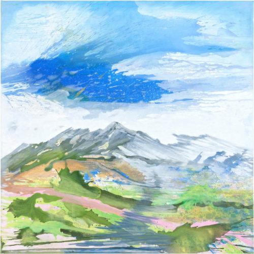 Julia Frischmann: be water, 2019, 150 x 150 cm, Vinyl on canvas