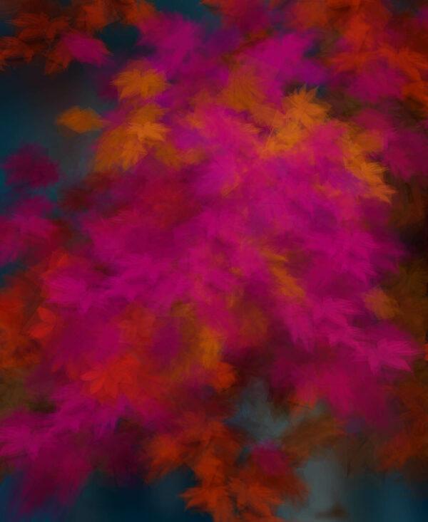 Margarete Schrüfer: Herbst in Simulacrum VI, 13 cm x 110 cm