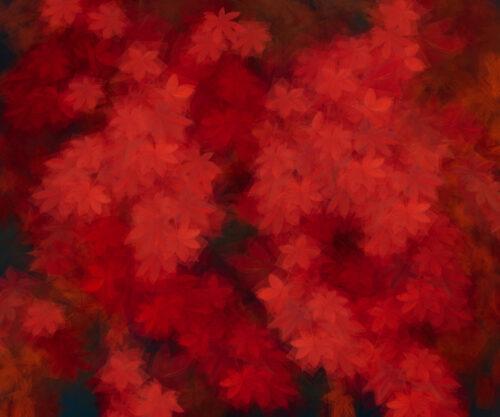 Margarete Schrüfer: Herbst im Simulacrum IV, 2021, 110 x 132 cm
