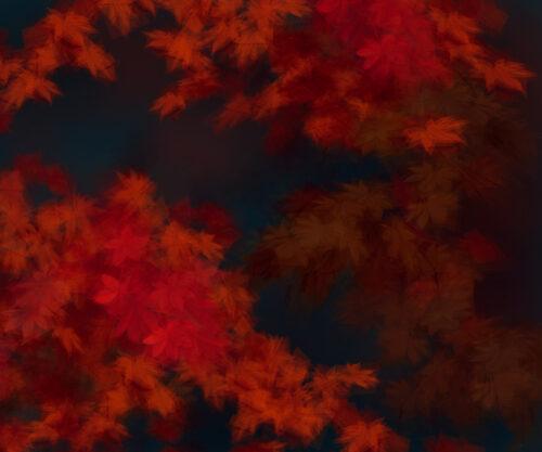 Margarete Schrüfer: Herbst im Simulacrum V, 2021, 110 x 132 cm
