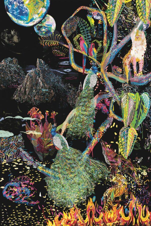 Marina Friedrich: Jungle by Night, 30 x 40 cm, 2021