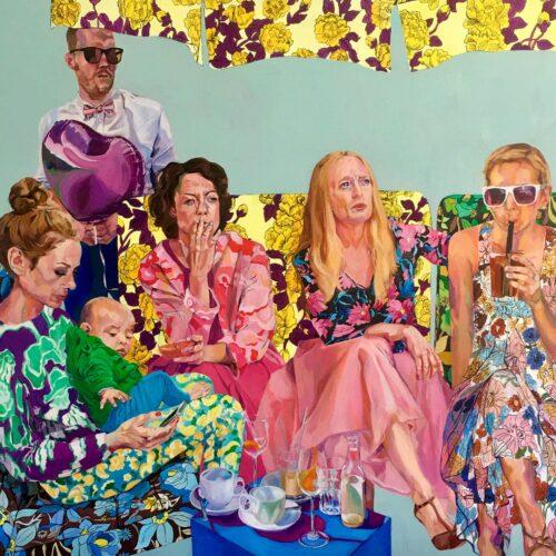 Janina Brügel, Distraction II, 145x155 cm, 2021, Acrylic on canvas